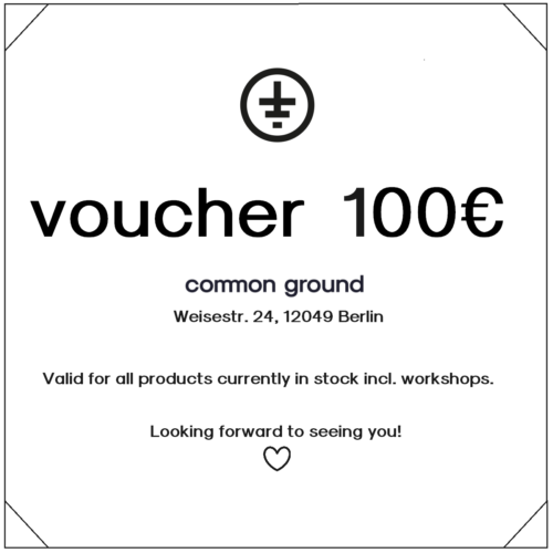 voucher 100eur common ground
